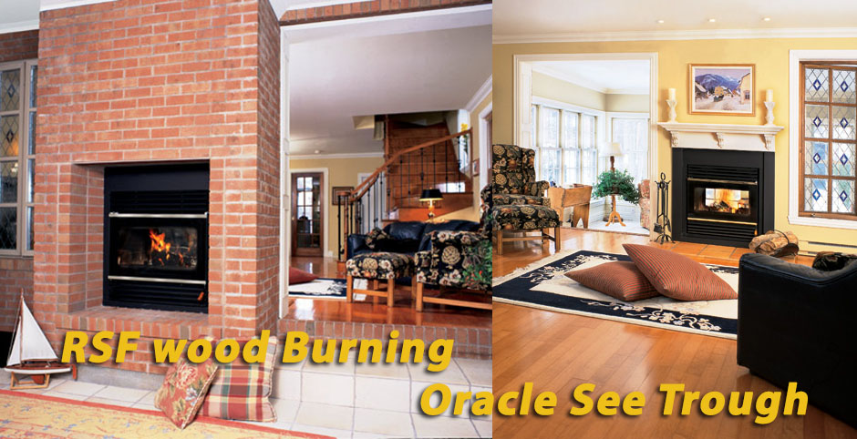 Rsf Wood Burning Oracle See Through Fireplace From