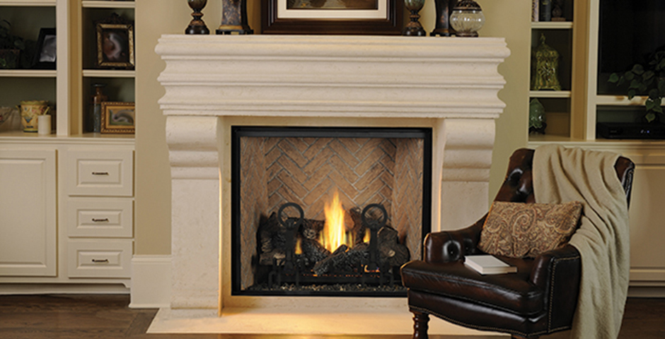 Lennox astria clean face fireplace montebello dlx from for Montebello fireplace